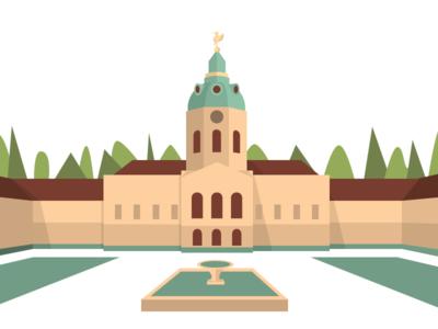 Schloss Charlottenburg castle vector sketchapp