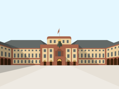 Schloss Mannheim castle vector sketchapp