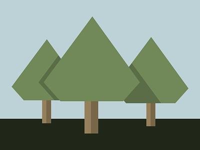 Diamond Trees diamond tree vector sketchapp