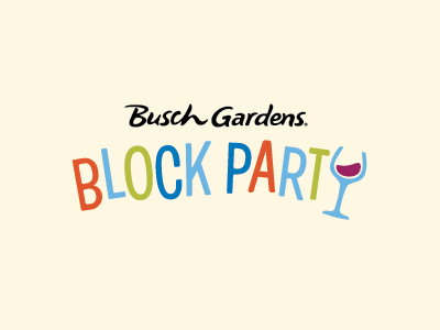 Block Party Nights at Busch Gardens logo id event wine fun loose theme park