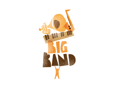 Big Band Event logo logo id music big rough warm