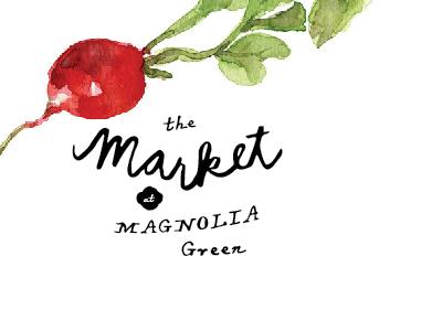 Farmer's Market at Magnolia Green id logo watercolor farmers market loose