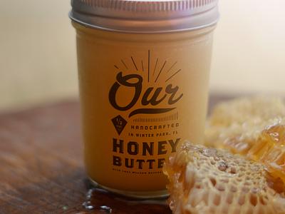 Our Honey Butter package homemade jar honey butter id packaging