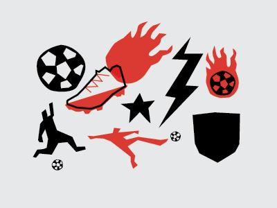 Soccer junk primitive illustration doodads soccer simple