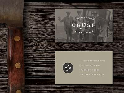 Crush 11 Cookery crush restaurant brand id logo