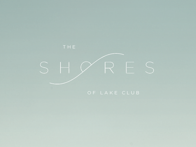 The Shores ID simple light shore water real estate identity logo