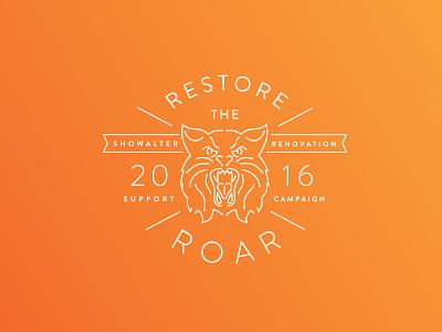 High School Field Restoration Campaign support event logo monoline wildcats wphs