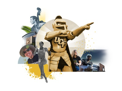UCF Calendar Cover knights student life knightro collage ucf