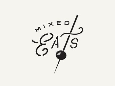Mixed Eats ID food booze logo id