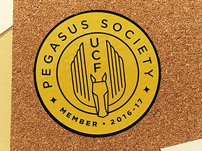 Pegasus Society sticker higher ed sticker pegasus logo ucf