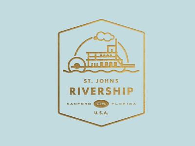 St. Johns Rivership Company ID florida crest logo paddlewheeler rivership