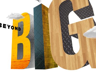 Beyond Big editorial illustration big ucf collage illustration type