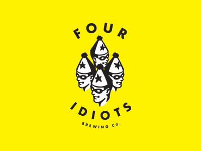 4 Idiots Brewing Co. friends brewing beer idiots logo id