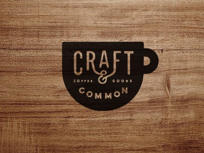 Craft & Common Coffee + Goods wood hipster coffee logo