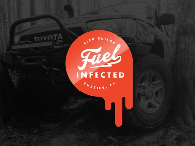 Fuel Infected ID fuel custom toyota off-road sticker logo