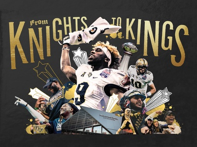 From Knights To Kings collage poster spread pegasus knights ucf