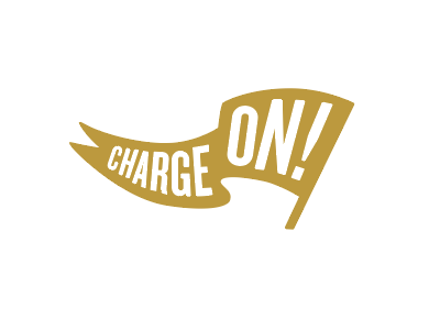 Charge On! vector pennant slogan spirit knights sticker ucf