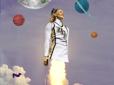 Reach For The Stars lift off collage cheer ucf