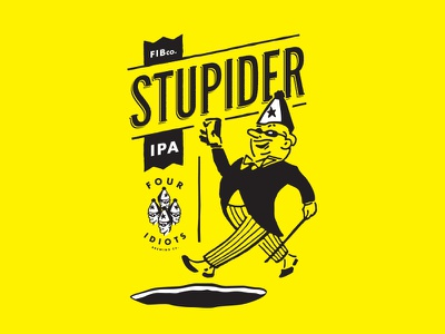 STUPIDER IPA art id logo sub brand label packaging beer