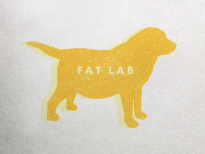Fat Lab ID logo id dog brand product line yellow