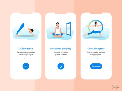 Onboarding Screen Design for Yoga Fitness App