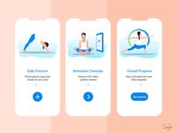 Onboarding Screen Design for Yoga Fitness App