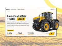 JCB tractor 8330 model concept design