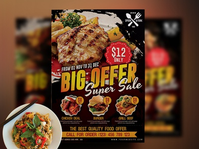 Food Flyer modern menu design menu food flyer template fast food flyer fast food drink dinner designer creative chocolate