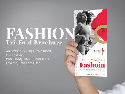 Fashion Tri Fold Brochure minimarket minimalistic minimalist megamarket market makeup hypermarket girl fashion catalog fashion editable design cosmetics colorfull colorful catalogue catalog