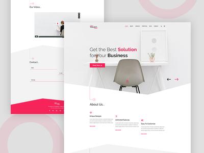 Project - Corporate Business Template ui portfolio one page multipurpose modern feature creative corporate clean business