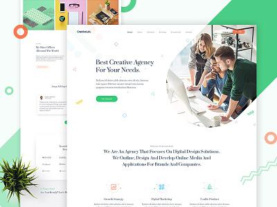 CreativeLab - Agency Landing Page V2 stylish shop portfolio photography multi-purpose modern minimal elegant design clean business agency