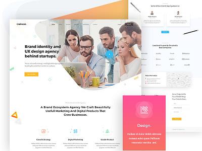 CreativeLab - Agency Landing Page V3 stylish shop portfolio photography multi-purpose modern minimal elegant design clean business agency