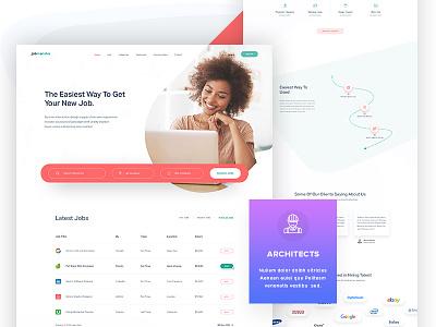 Job Portal Website   Job Finder / Hiring website webdesign theme template search portal layout jobs job find designers career