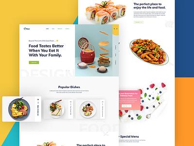 Restaurant Landing Page Concept minimal page landing eat cooking chef website restaurant menu food concept clean