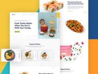 Restaurant Landing Page Concept