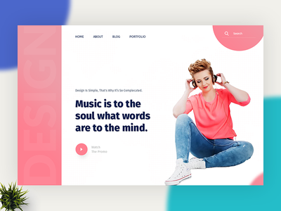Header Style V5 colors camera subscribe minimal portfolio profile simple template 404 typography gradient photography
