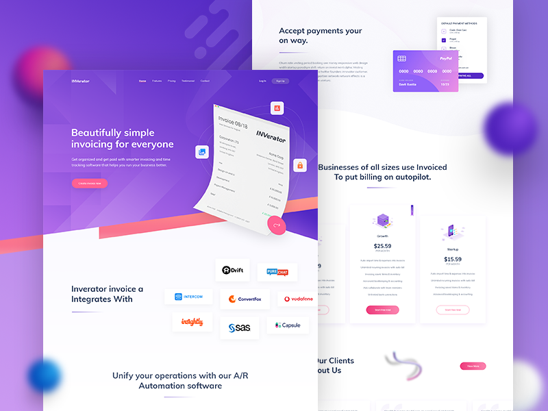 Invoice Landing Page Design By Zahid Hasan Zisan Dribbble Dribbble