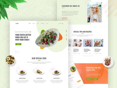 Restaurant Landing Page - Freebie