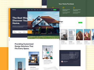 Real Estate Landing Page design #2 architecture webdesign debut website simple modern clean hero creative experience property real estate