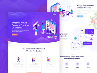 Creative Home Page   Exploration #5 dashboard payment credit card it technology isometric gradient beauty exploration wallet purple crypto minimalist