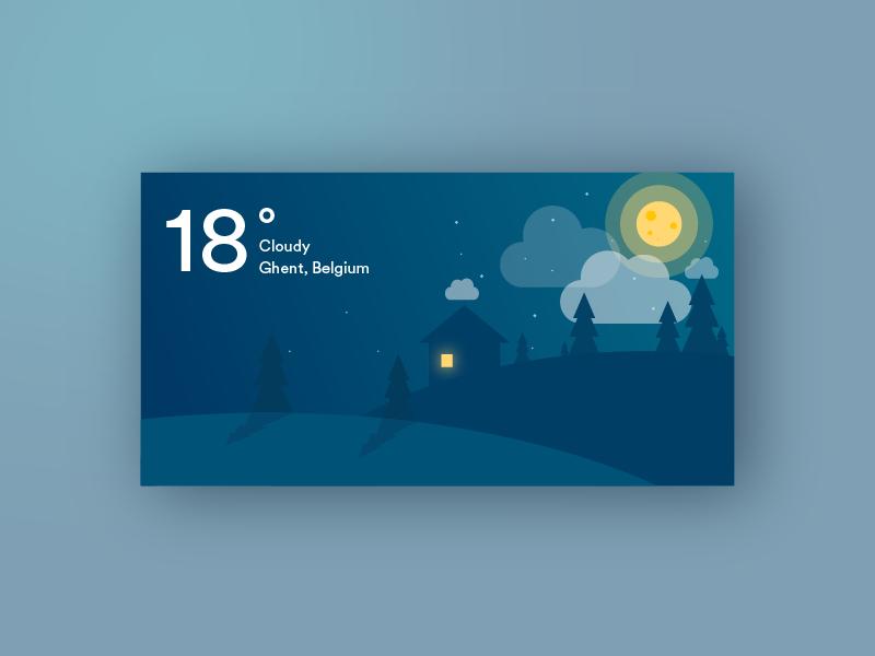 Weather application illustrator minimal clean weather