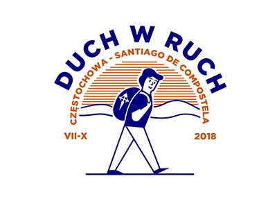 Duch W Ruch saint travel man icon logo