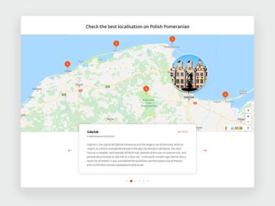 Localisation map with description