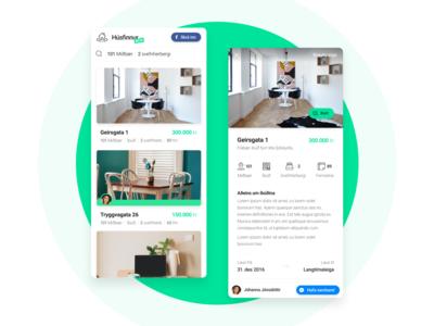 Húsfinnur - Home Rental Website