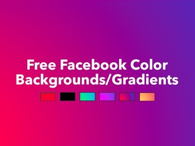 Free Facebook Colored/Gradient Backgrounds PSD
