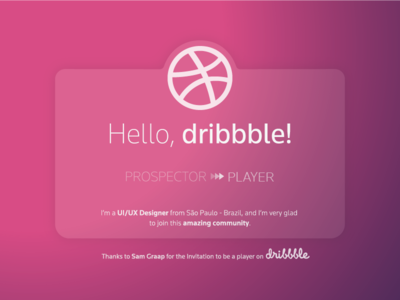 My First Shot thanks shot invitation hello first dribbble firstshot debut