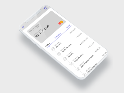 Bank App bank app iphone x ui ux credit card product dessign bank dashboard interface app
