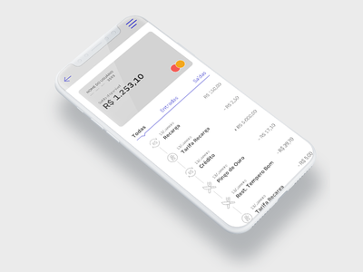 Bank App bank app iphone x ui ux credit card product dessign bank dashboard interface app