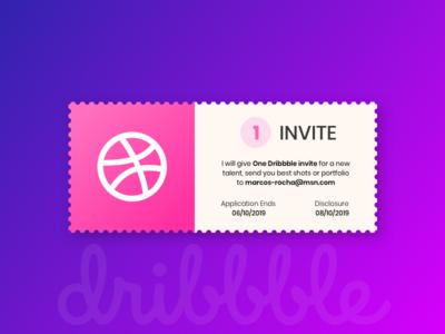 Dribbble Invite debut vector illustration design brading ui dribbble invitation dribbble invite invitation design invitation card invite giveaway invite design invite