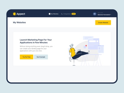 Create your own landing pages for your apps! ux ui screen application product interface design state empty mobile app mobile landingpage landing